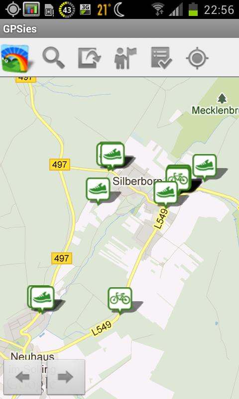 Anroid App GPSies.com Screenshot