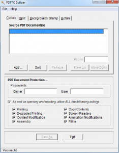 Windows Tools PDFTK Builder Portable Screenshot