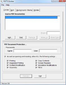 Windows Tools PDFTK Builder Portable Screenshot