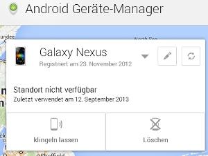 google geräte manager