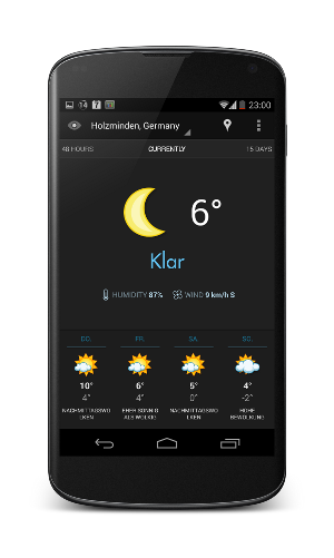 android app eye in the sky schicke wetter app f r android. Black Bedroom Furniture Sets. Home Design Ideas