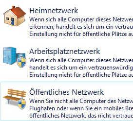 windows Netzwerkstandort Heimnetzwerk Öffentliches Netzwerk
