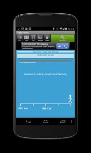 Android App Regenwarner Regenradar