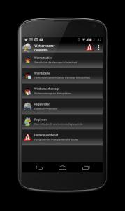 Android Unwetter Warnungen