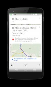 Google Now Stauwarnung