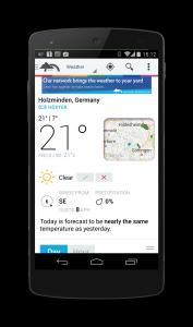 Android Wetter App Weather Underground