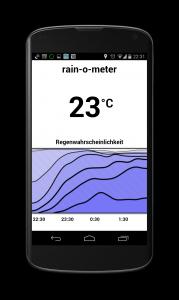 Anroid Wetter App Rain o Meter