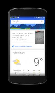 Google Now Google Suche Parkplatz Offline Modus