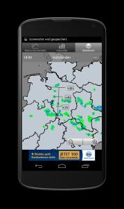 Android App Regenvorschau Regenradar