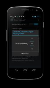 Android Mobile Daten Abrechnungszyklus
