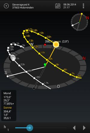 Android App Sun Surveyor 3D Kamera