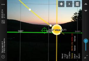 Android App Sun Surveyor AR-Kamera
