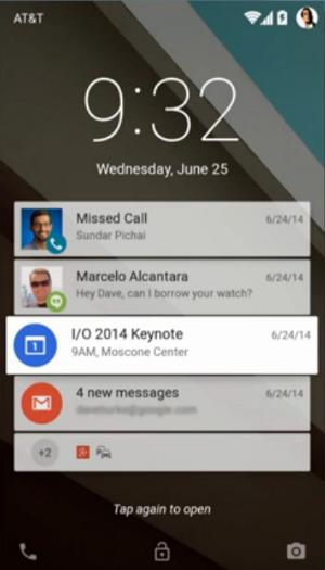 Android L Benachrichtigungen