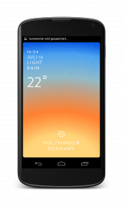 Android Wetter App Solar