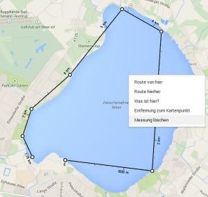 Google Maps Entfernung messen