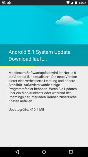 Android 5.1 update problem download startet nicht