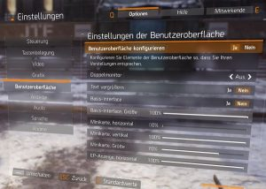 The Division Textchat Einstellungen